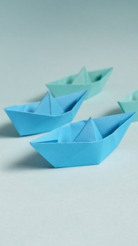 Paper Boats Mobile Wallpaper