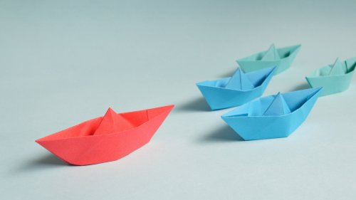 Paper Boats HD Desktop Wallpaper
