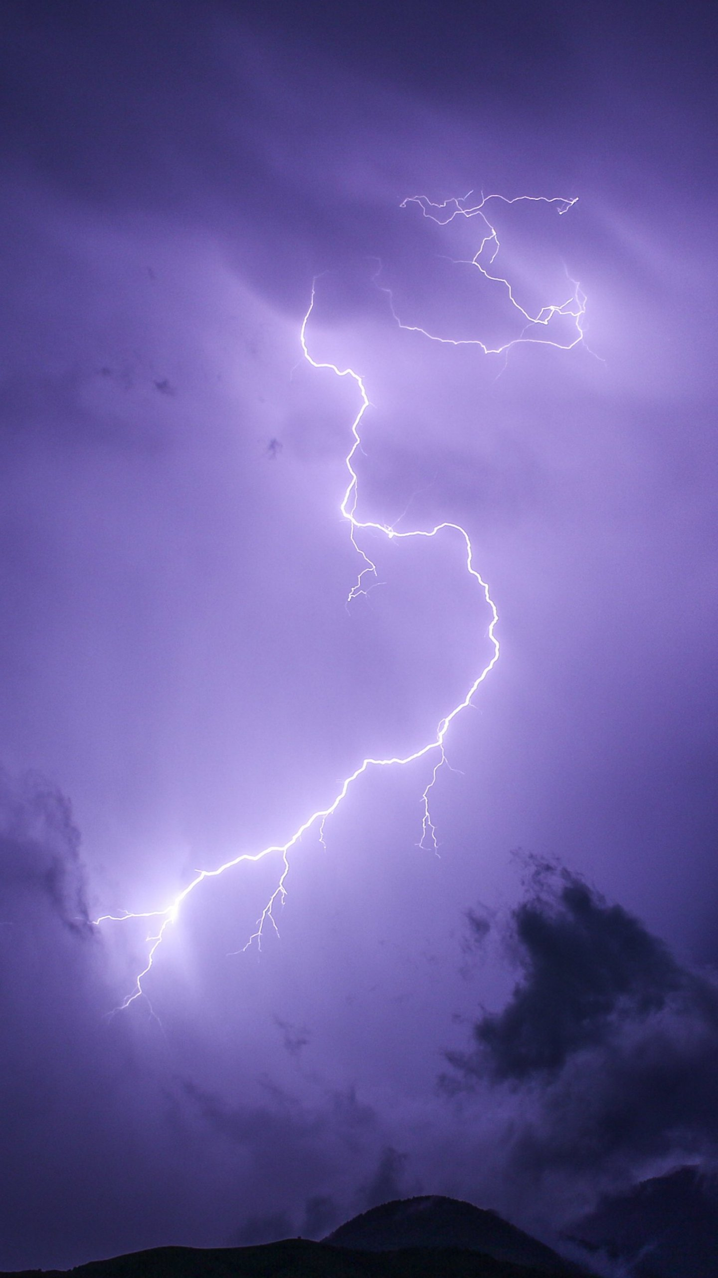 Purple Lightning Wallpaper Iphone Android Desktop Backgrounds