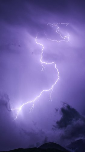 Purple Lightning Mobile Wallpaper