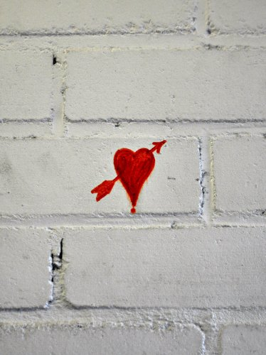 Heart Arrow Love Graffiti