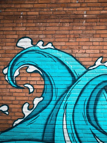 Ocean Waves Street Art