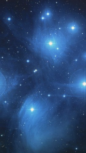 The Pleiades Star Cluster Mobile Wallpaper