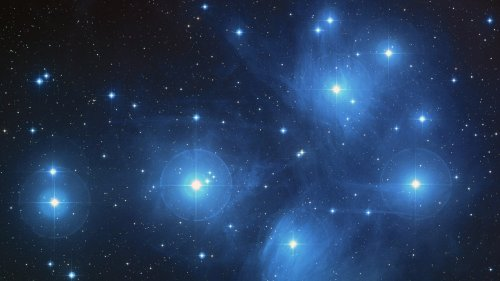 The Pleiades Star Cluster Wallpaper