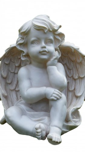 Cherub Statue Mobile Wallpaper