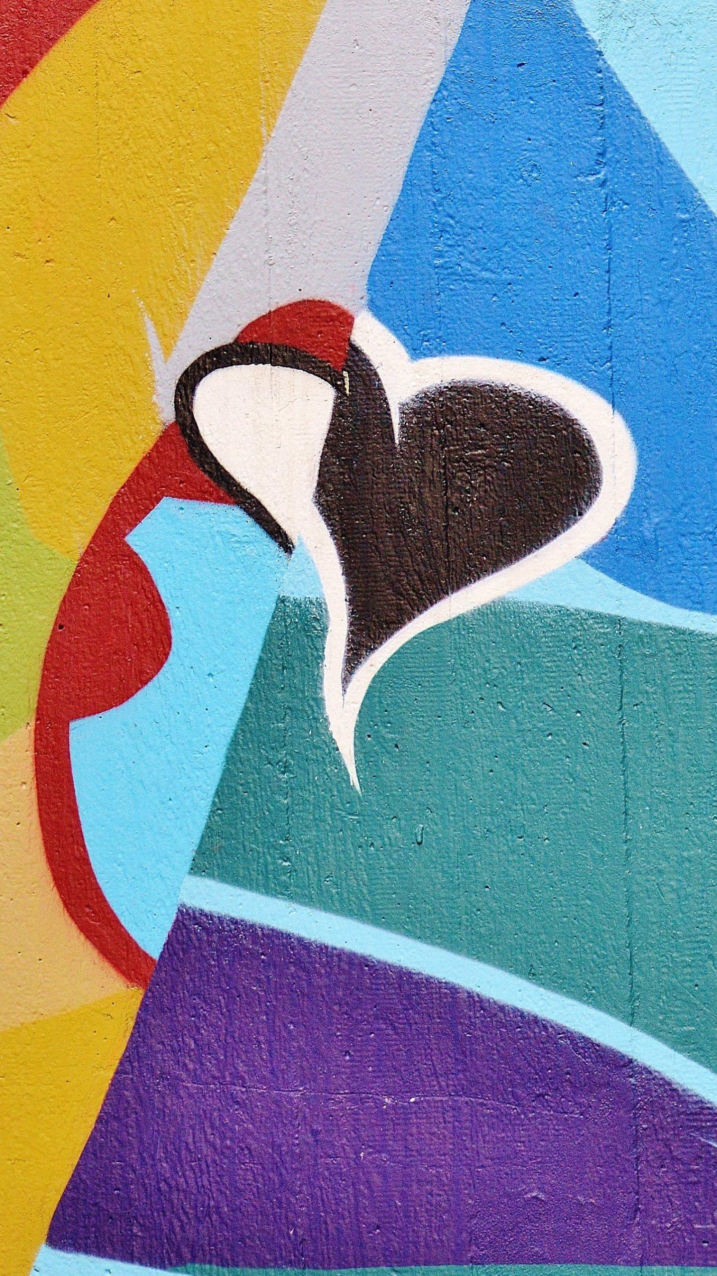 Heart Graffiti Wallpaper Iphone Android Desktop Backgrounds