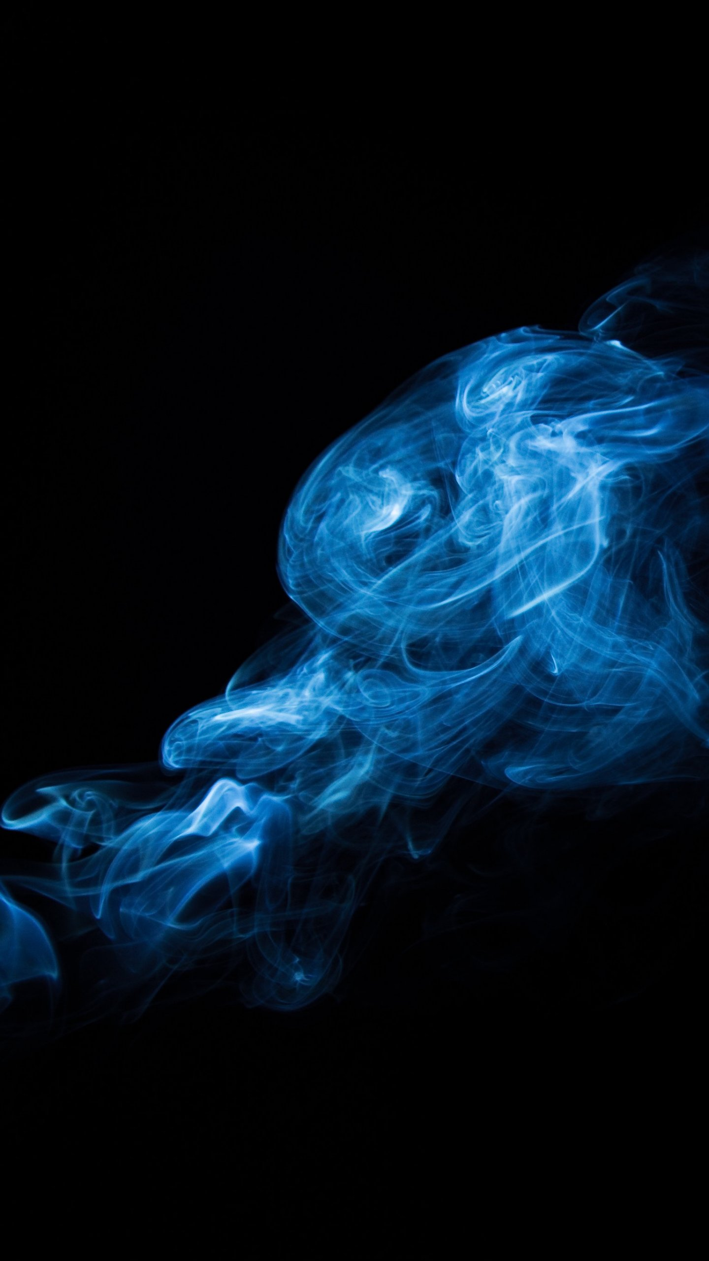 Blue Smoke Wallpaper IPhone Android & Desktop Backgrounds