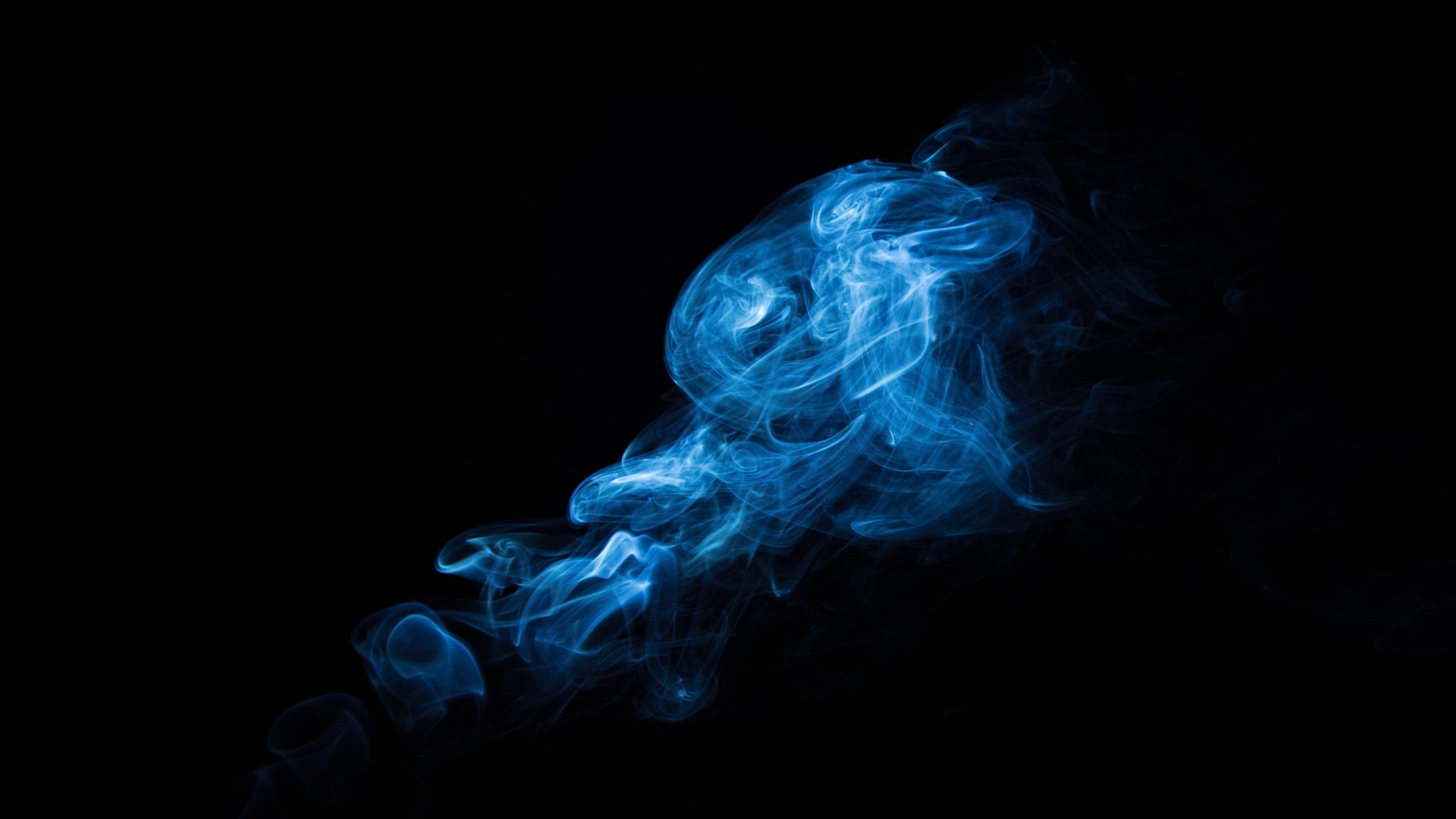 Blue Smoke Wallpaper Mobile Desktop Background